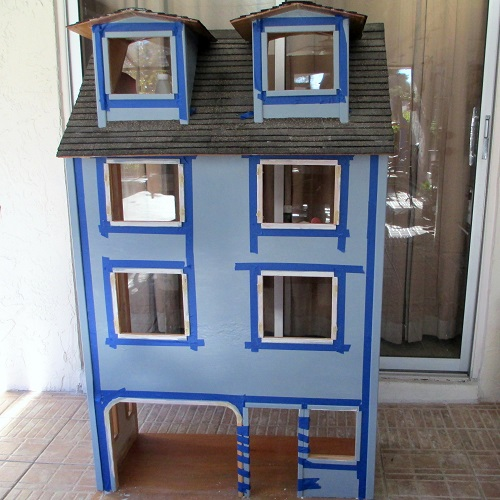 Progress Painting My Dollhouse Remodel Diary Of A Dollhouse