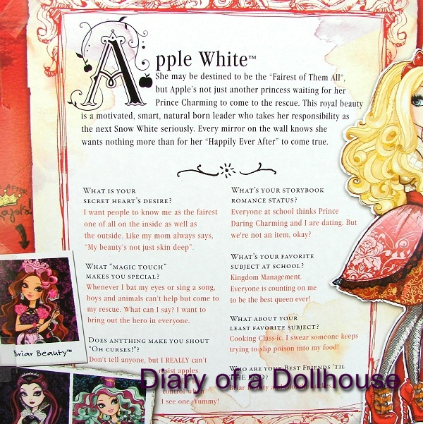 my new apple white ever after high doll by mattel diary