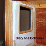 Smoothing Out The Dollhouse Kitchen Walls