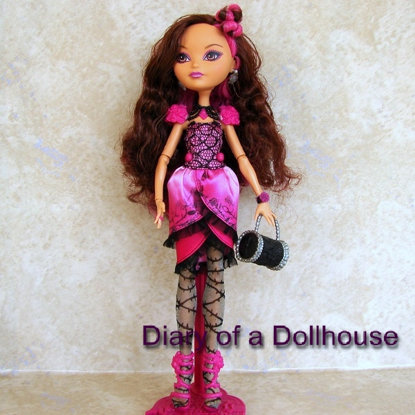 EVER AFTER HIGH DOLL ACCESSORIES LEGACY DAY BRIAR BEAUTY BLACK /& SILVER BELT
