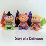 Mini Halloween Cabbage Patch Kids Witch and Kitty Dolls