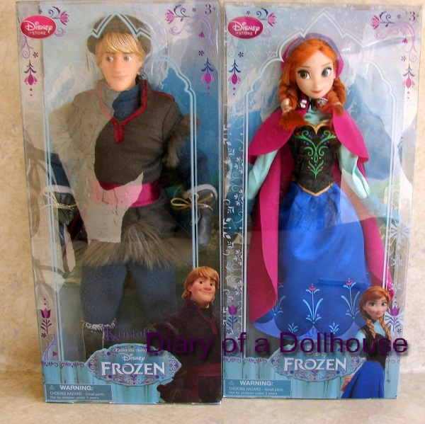 Anna and Kristoff Frozen Dolls