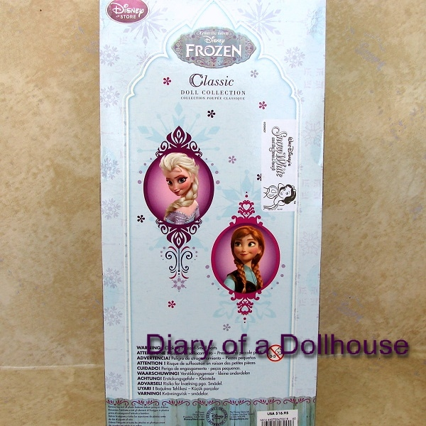 Frozen Dolls Package Back