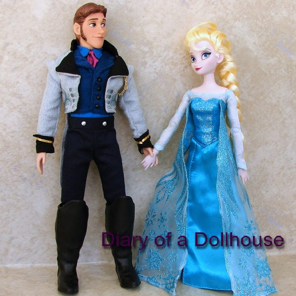 Disney Hans and Elsa Frozen Dolls