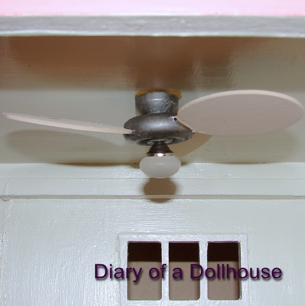 How I Made A Dollhouse Ceiling Fan