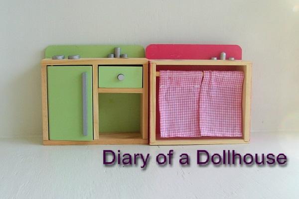 Semi-Handmade Dollhouse Kitchen Cabinets   Diary of a ...