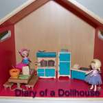 Lil Woodzeez and Dollhouse Shelf From Target