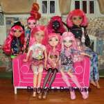 Pink Hair Dolls Pose For A Portrait
