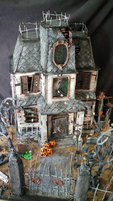 The Haunted Construction Co Halloween Dollhouse