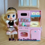 Dollhouse Play Kitchen With Hallmark Kitchen Ornaments